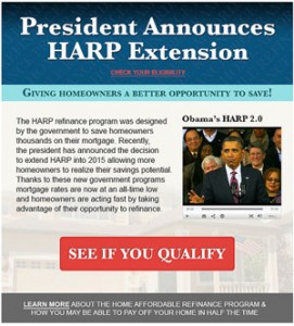 Obama Announces HARP Extension