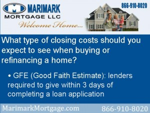 What type of closing costs should you expect to see when buying or refinancing a home
