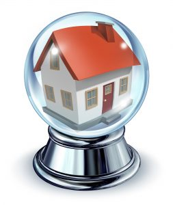Crystal Ball Showing a House